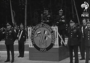 General Norstad Leaves Fontainebleau Headquarters (1951)